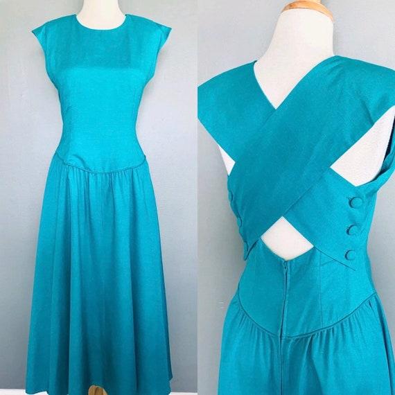 80s dress  French dress MARKET dress 1980s dress H