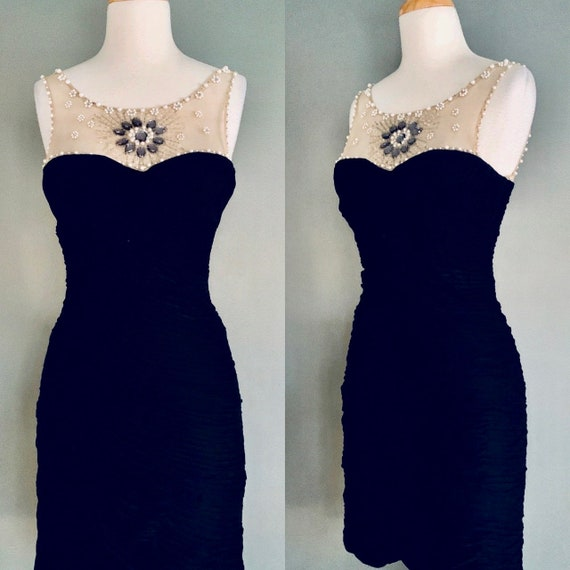 80s dress Vintage dress 1980s dress Bombshell dres