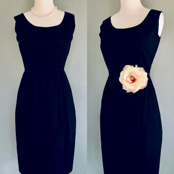 60s dress/ Fit and flare dress/1960s dress/ Black