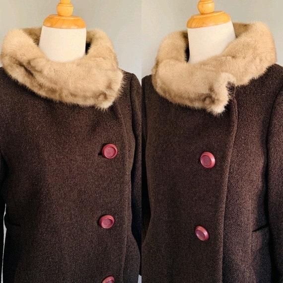 1960s Coat/ Vintage coats women/60's coat/1960's … - image 1
