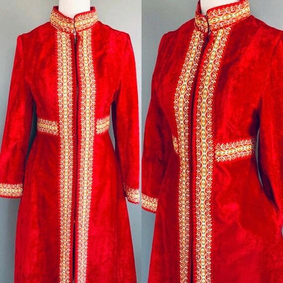 70s Coat 1970's coat Bohemian coat Embroidered coa