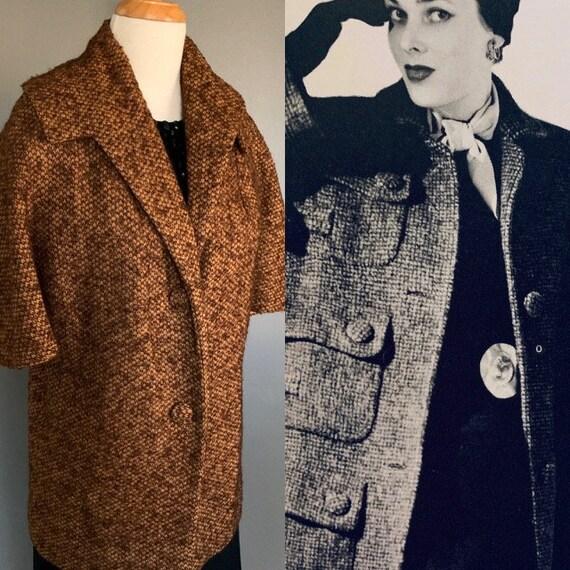 Vintage coat  50s Coat 50s Jacket  Vintage 50's co