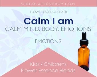 I am Calm Flower Essence - Kids, Children, Soothing - Blooms, Bees, Butterflies - Emotional Support