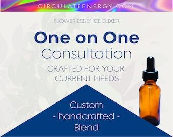 Custom Consultation, Custom Flower Essence Blend and Presentation - Blooms, Bees, Butterflies - Power - Emotional Support