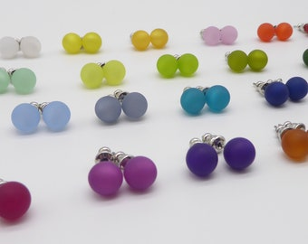 Earrings with 8 mm Polaris pearl, many colors to choose from, pretty earrings for women and girls