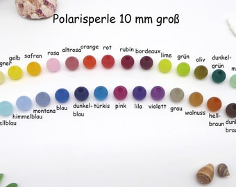 10 Polaris beads 10 mm in size, matt, matching the change of jewelry, many colors, addition to the modular jewelry