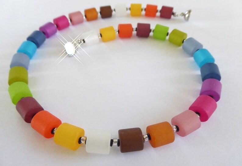 Polaris necklace of gradient reels colorful rainbow image 0