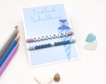 Back-to-school gift, schoolchild, 2 wristbands incl. gift card, gift for girls and boys