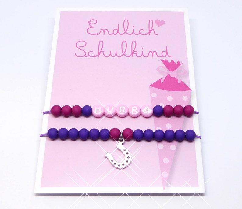 Gift to start school finally school child 2 bracelets incl. image 0