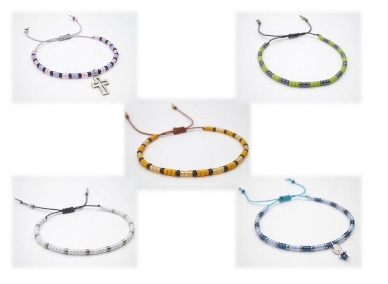 Bracelet made of Miyuki seed beads various models with image 0