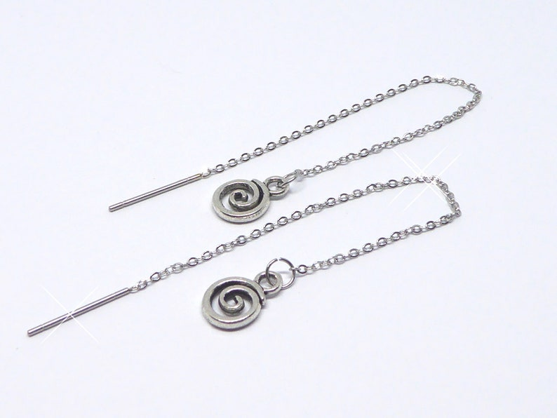 Earrings with spiral earrings earrings earrings stainless image 0