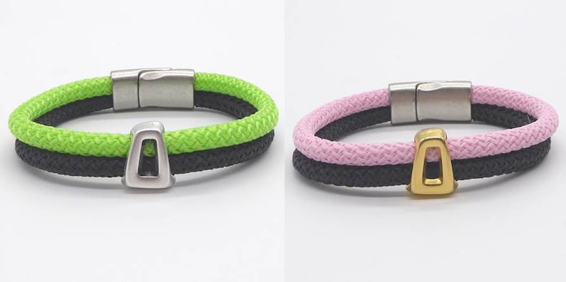 Bracelet made of sail rope cord rope color wish many image 0