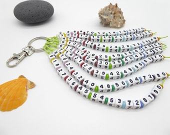1x1 chain, small one-off, learning aid, gift for student, arithmetic aid, desired colors, customizable, school, for kids, fractional calculation