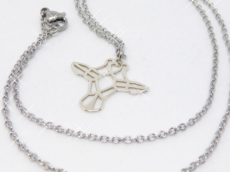 delicate stainless steel necklace with pendant giraffe image 0