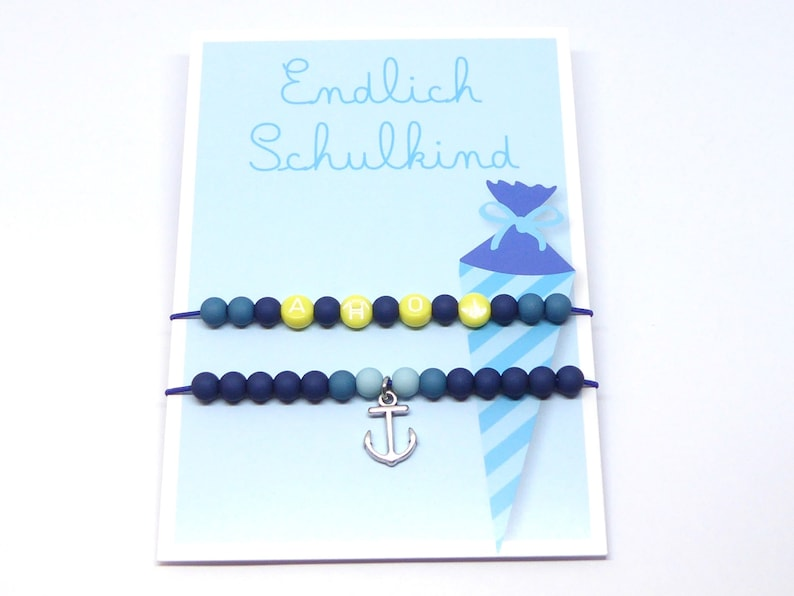 Gift for school start school child 2 bracelets incl. gift image 0