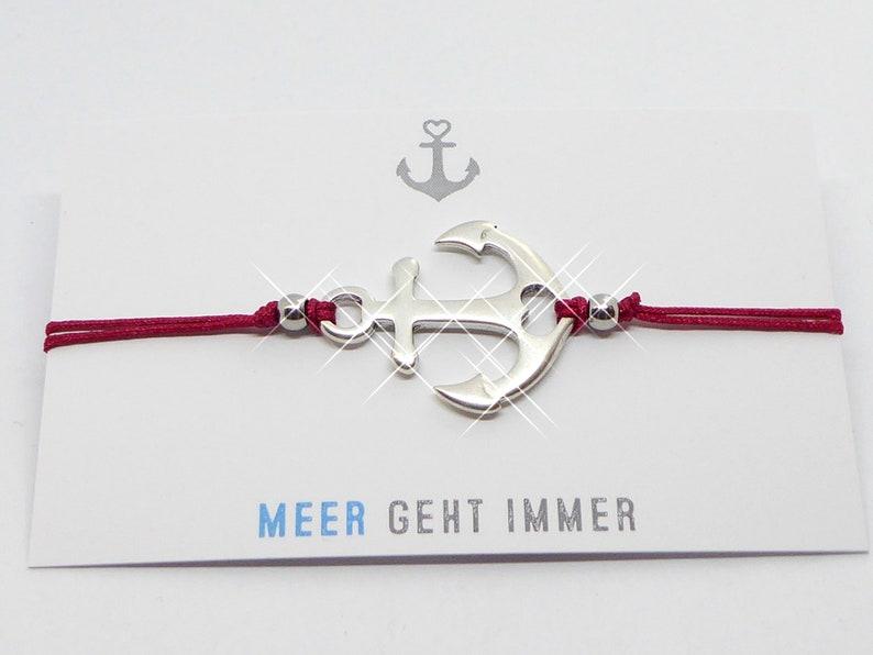 Bracelet delicate bracelet with anchor silver wish color image 0