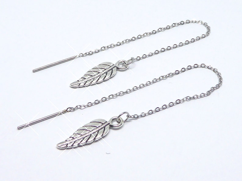 Earrings with leaves earrings earrings earrings stainless image 0
