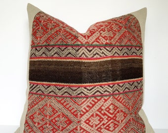 Vintage Peruvian Manta Pillow Cover #18-004