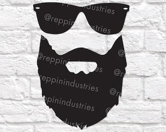 Beard Svg, Sunglasses Svg, Bearded Man Svg, Beards Svg, Beards Cut File, Svg Files for Cricut, Cut Files for Silhouette,  Cut Files Svg