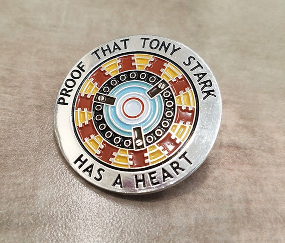 Proof That Tony Stark Has a Heart Pin
