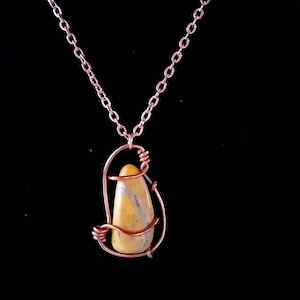 henbane  bumblebee jasper and tassel necklace