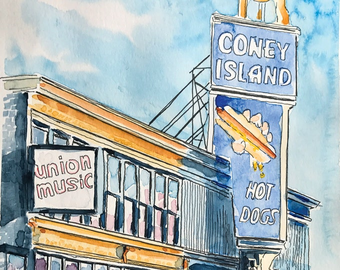 Featured listing image: Coney Island (Watercolor Prints)