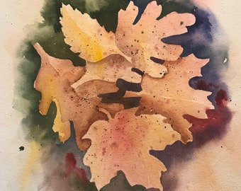 Colorful Fall Leaves (Original Watercolor Painting)