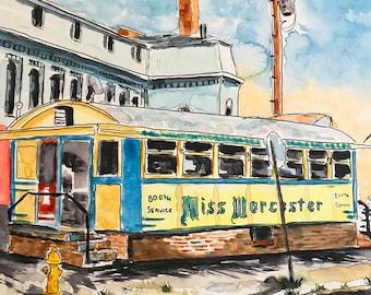Miss Worcester (Watercolor Prints)