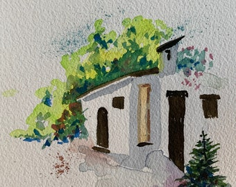 Hacienda (Original Watercolor Painting)