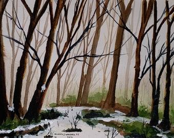 Last Winter Painting 2021 (Original Watercolor Painting)