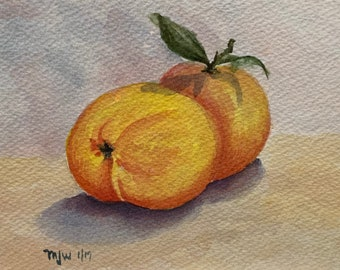 A Pair of Peaches (Original Watercolor Painting)