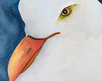 Frank the Seagull (Original Watercolor Painting)