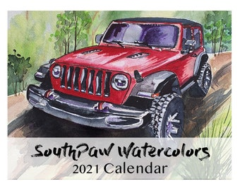 SouthPaw Watercolors 2021 Wall Calendar
