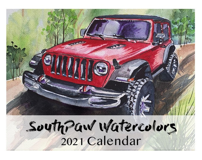 Featured listing image: SouthPaw Watercolors 2021 Wall Calendar
