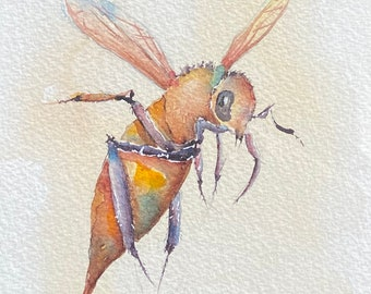Sting Like A Bee (Original Watercolor Painting)