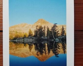 Reflection on Red Devil Lake, Yosemite, photo greeting card, blank