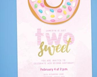 Two Sweet Birthday Invitation