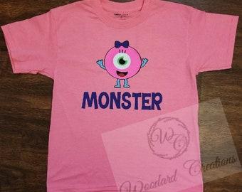 Monster kid shirt - kid shirt- cute kid shirt - monster shirt - boy monster - girl monster