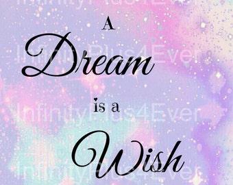A Dream Is A Wish - Cinderella - INSTANT DOWNLOAD