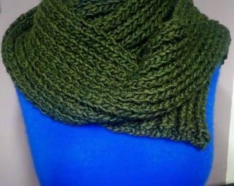 Green wool scarf-wool green scarf