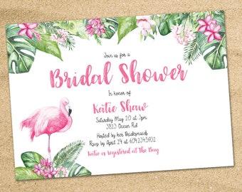 tropical invitations luau invitations tropical bridal etsy