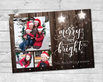 2019 new year card template holiday card photo happy new etsy
