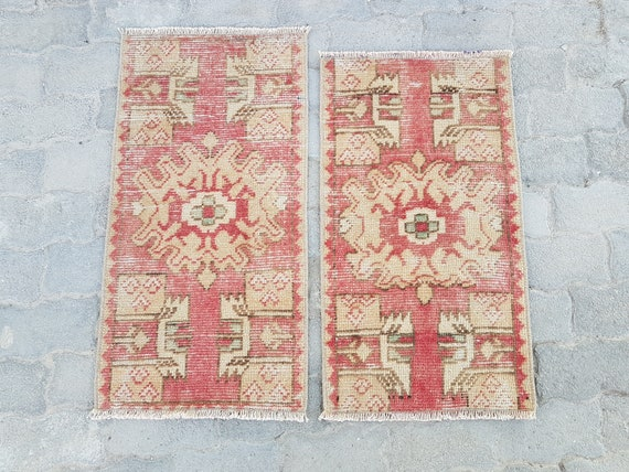 Vintage Twin Mat Rugsturkish Mat Rugschristmas Gift Etsy