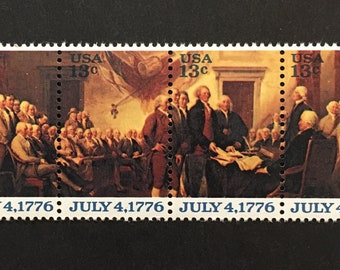Constitution Stamps - Signing of the Constitution  -July 4 - Independence Day
