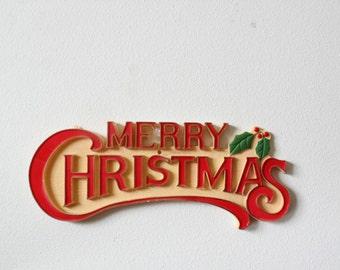 Vintage Merry Christmas Sign | Merry Christmas Door Sign | Merry Christmas Sign | Merry Christmas Wall Sign | Door Sign For Christmas | Gift