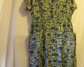 Retro Chic Dress, Pocketed, handmade