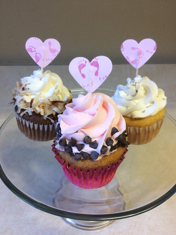 Verwonderlijk Baby girl cupcake toppers baby shower cupcakes girl baby | Etsy HM-91