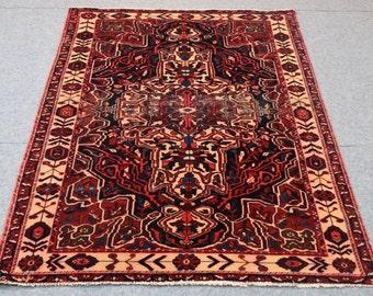 Handmade Carpet : 5.4' x 7.8 Shiraz Persian hand made area rug floor rug  bohemian rugs