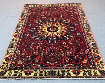 6.2 x 10.1  Persian Shiraz floor Ethnic rug  Rugs for Home, Persian Rugs  handmade carpet Home decor rug gift for her boho rug vintage