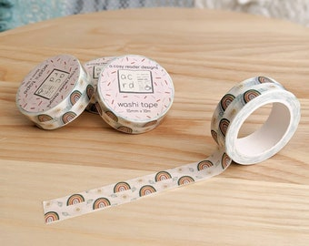 Boho Rainbow Washi Tape - Planner Tape - Washi Masking Tape - Decorative Cute Washi Tape - Planner & BuJo Accessories